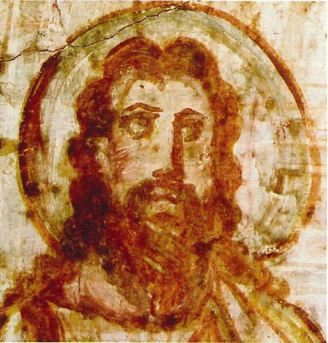 per fr GESU CATACOMPBE, fine del IV-inizio del V secolo, catacombe di Commodilla, Roma.
