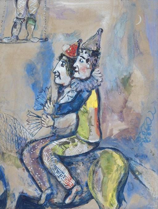 imm it Marc Chagall, Dos payasos a caballo