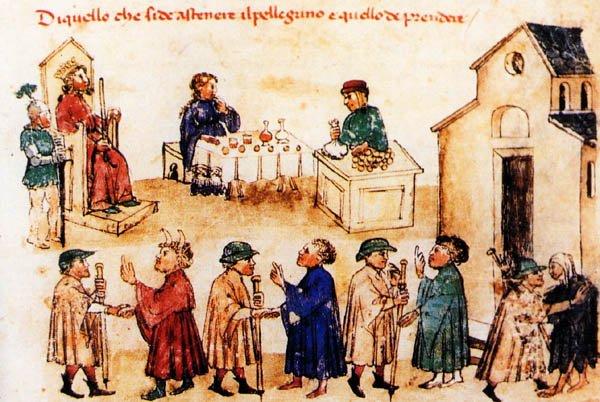 pellegrini del medioevo a roma